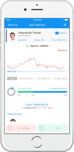 Club Members vote on the Voleo stock trading app for investment clubs